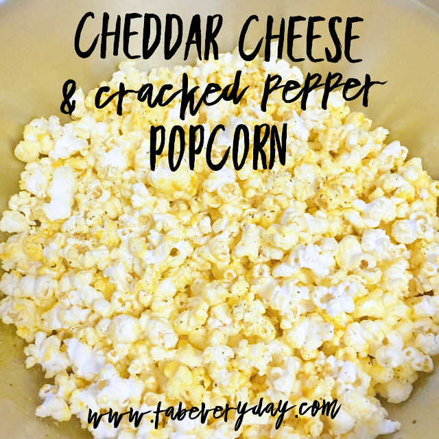 Cheddar Cheese and Cracked Pepper Popcorn recipe