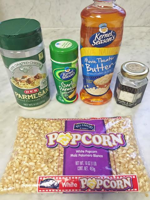 Popcorn seasoning recipe: Parmesan, Garlic, and Truffle Popcorn