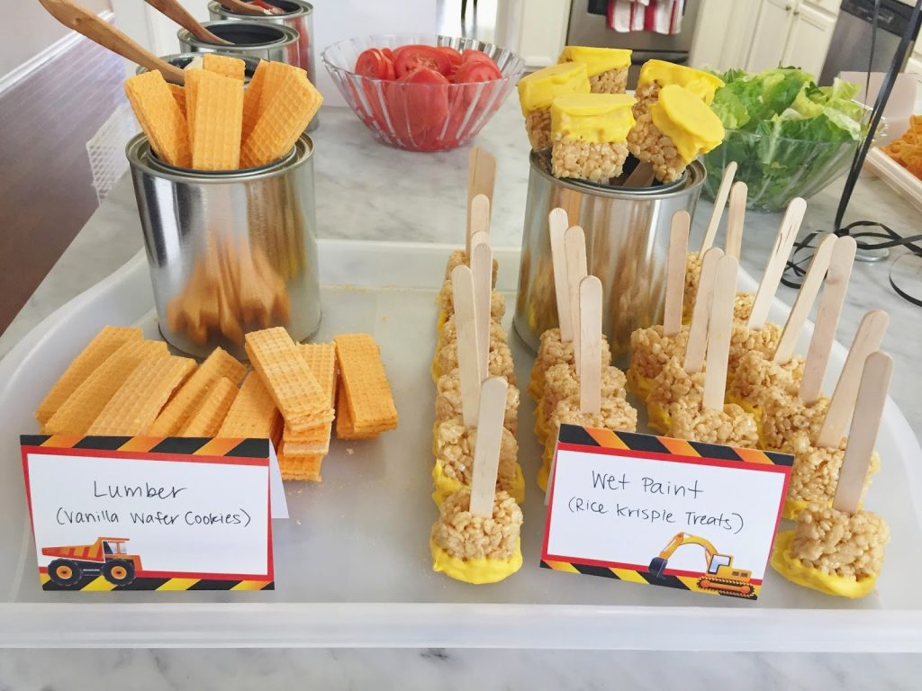 construction themed food ideas
