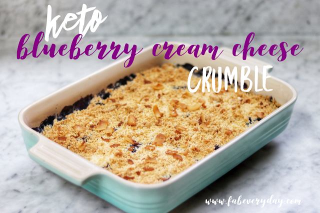keto dessert ideas: keto blueberry crumble recipe