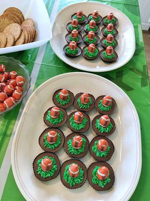 football party dessert ideas - game day Reese's cups