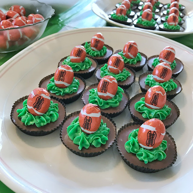 easy football party food ideas - game day Reese's cups