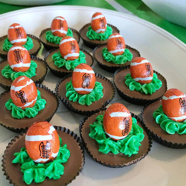 super easy football party food ideas - game day Reese's cups