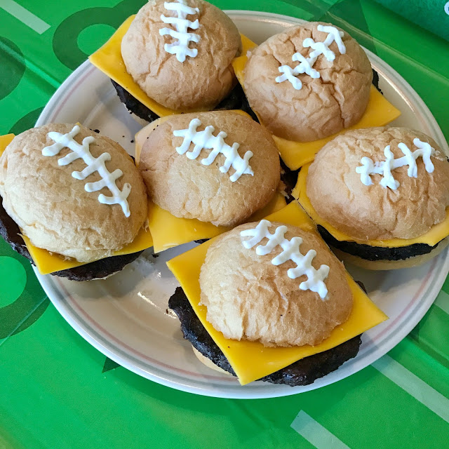 football sliders - easy football party food idea for tailgates or the super bowl
