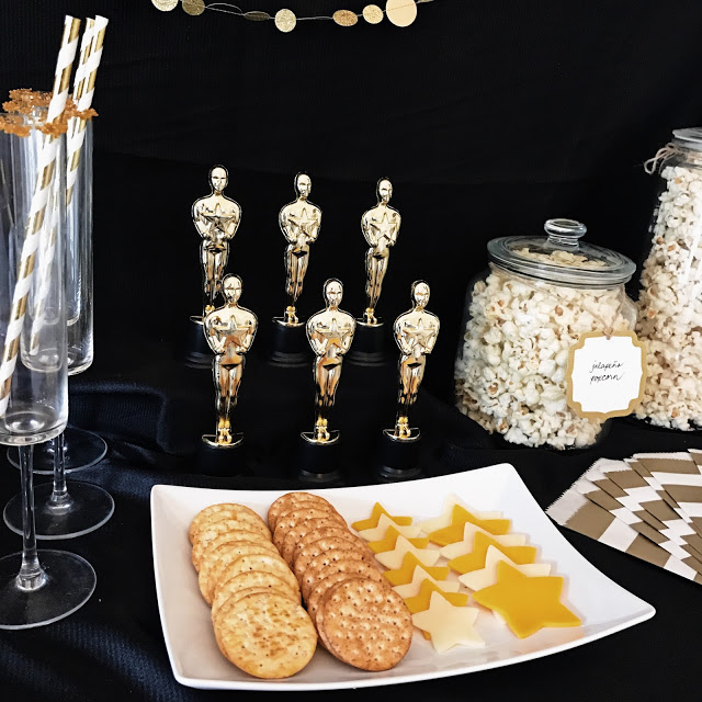 appetizer spread for a hollywood movie party