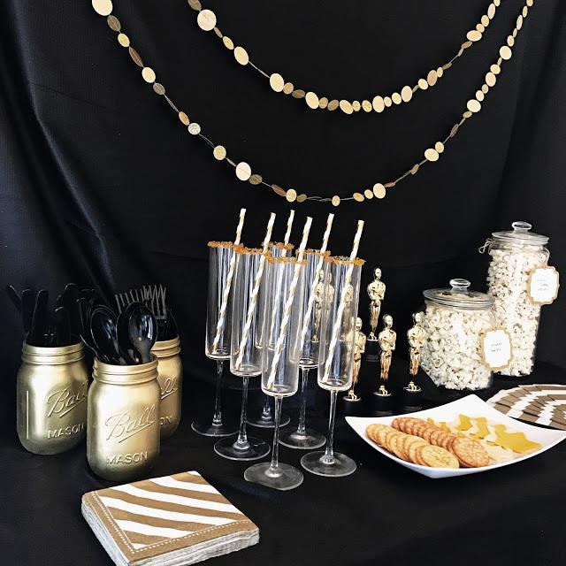 food and drink ideas for a hollywood movie theme oscar party