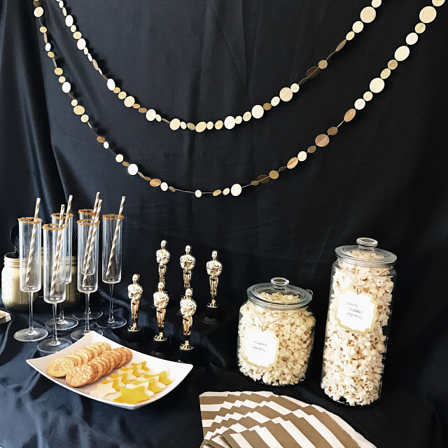 decor and food ideas for a hollywood theme movie awards show party