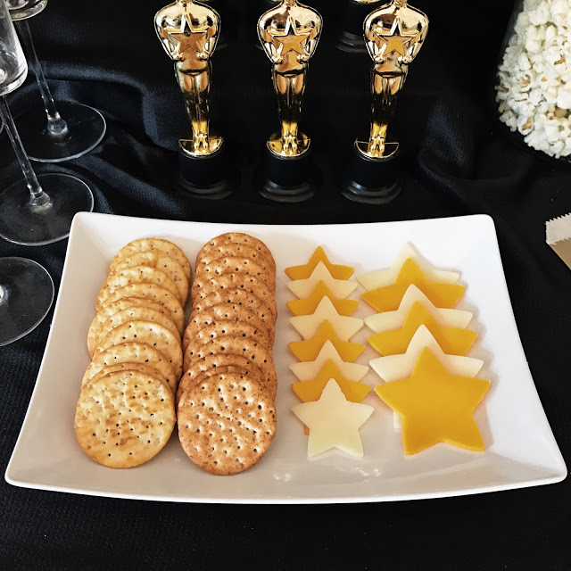 star cheese - easy appetizer idea for an academy awards movie awards show party