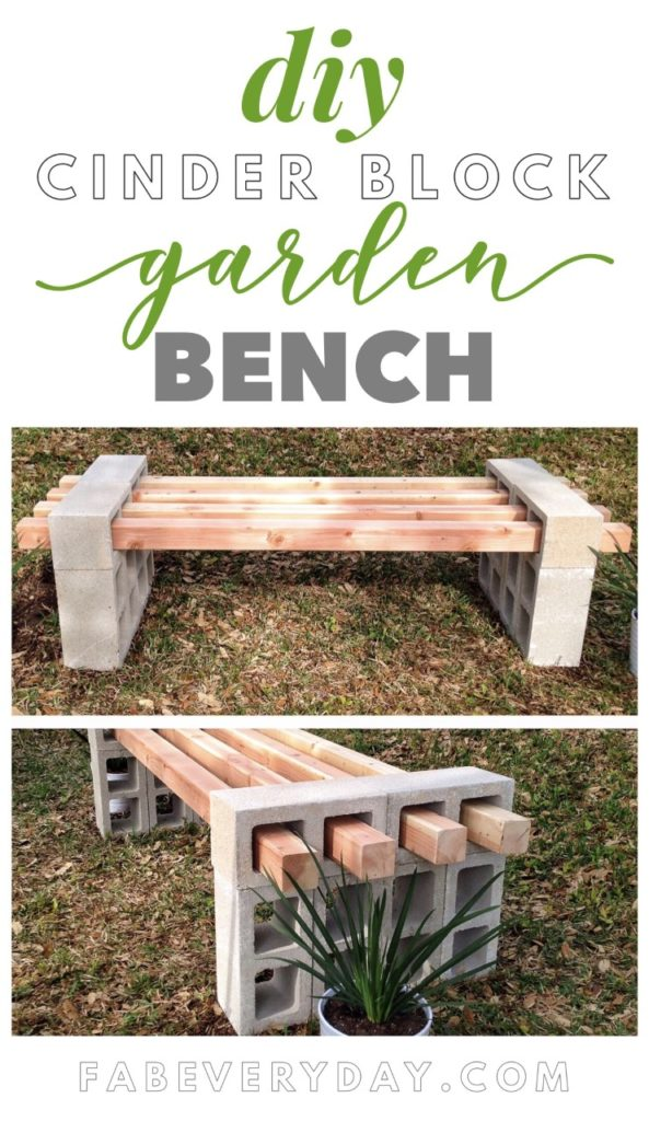 Cool Diy Cinder Block Bench Fab Everyday Evergreenethics Interior Chair Design Evergreenethicsorg
