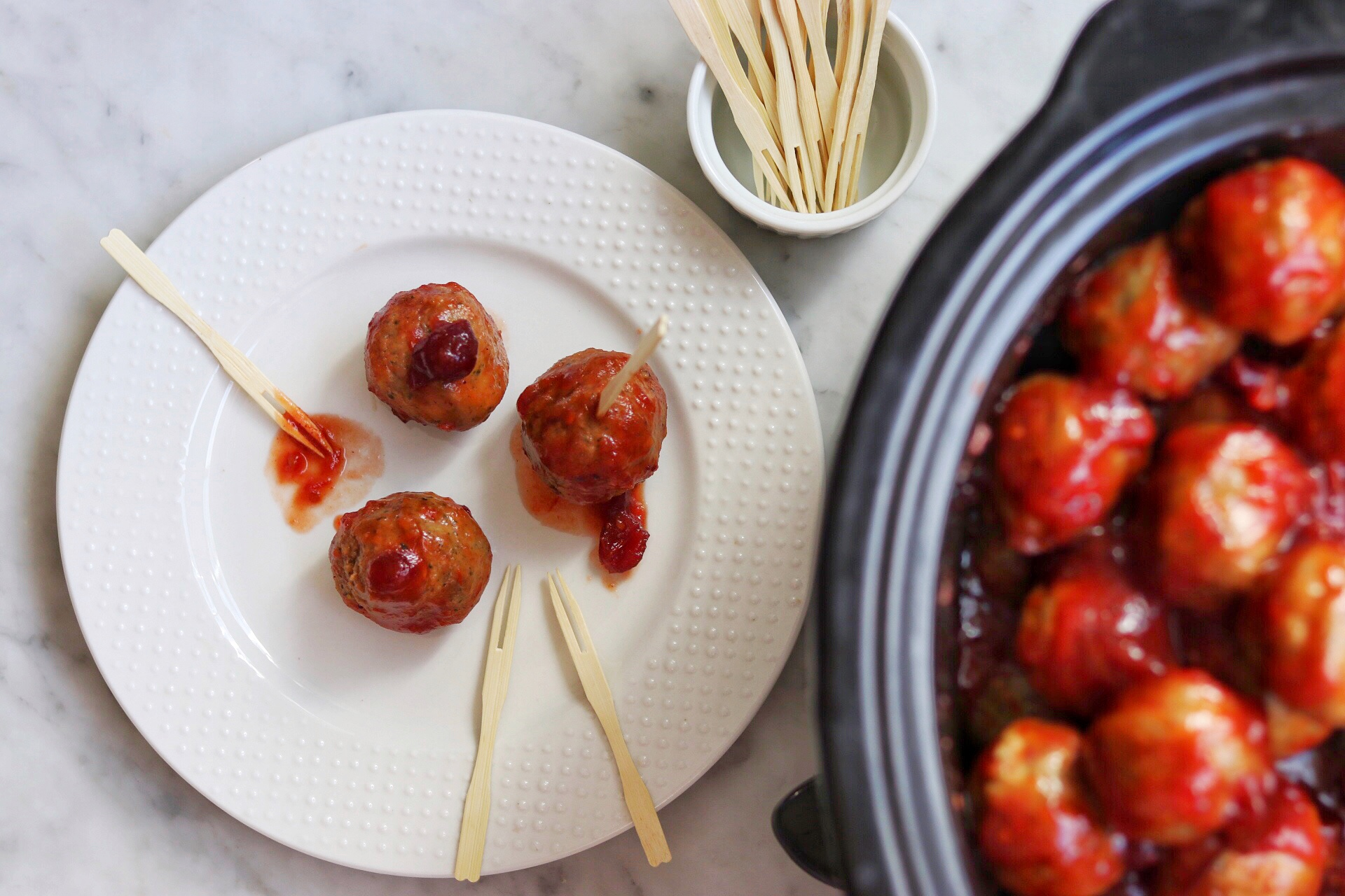 chili and cranberry sauce meatballs