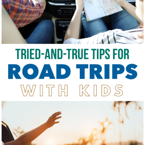 Tips for having the best, low-stress family road trip (including lots of car activities for toddlers and young kids)