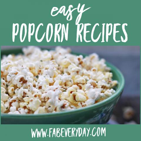 easy popcorn seasoning recipes