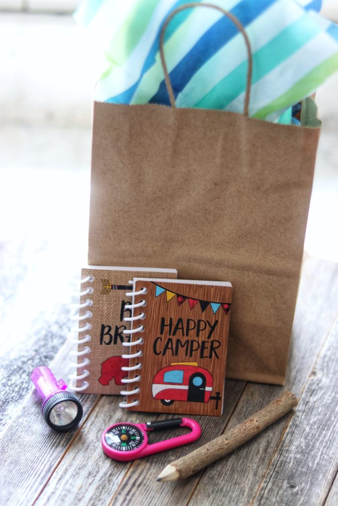 camping themed birthday party favors