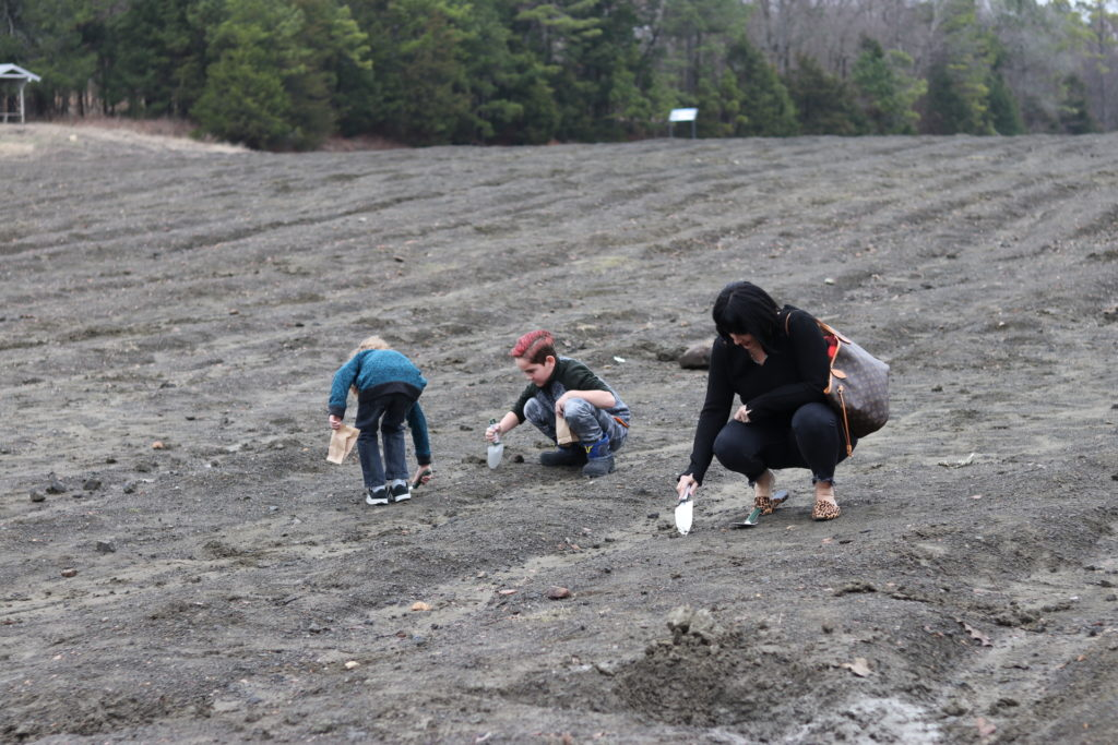 Searching for diamonds and other stones at Crater of Diamonds State Park in arkansas