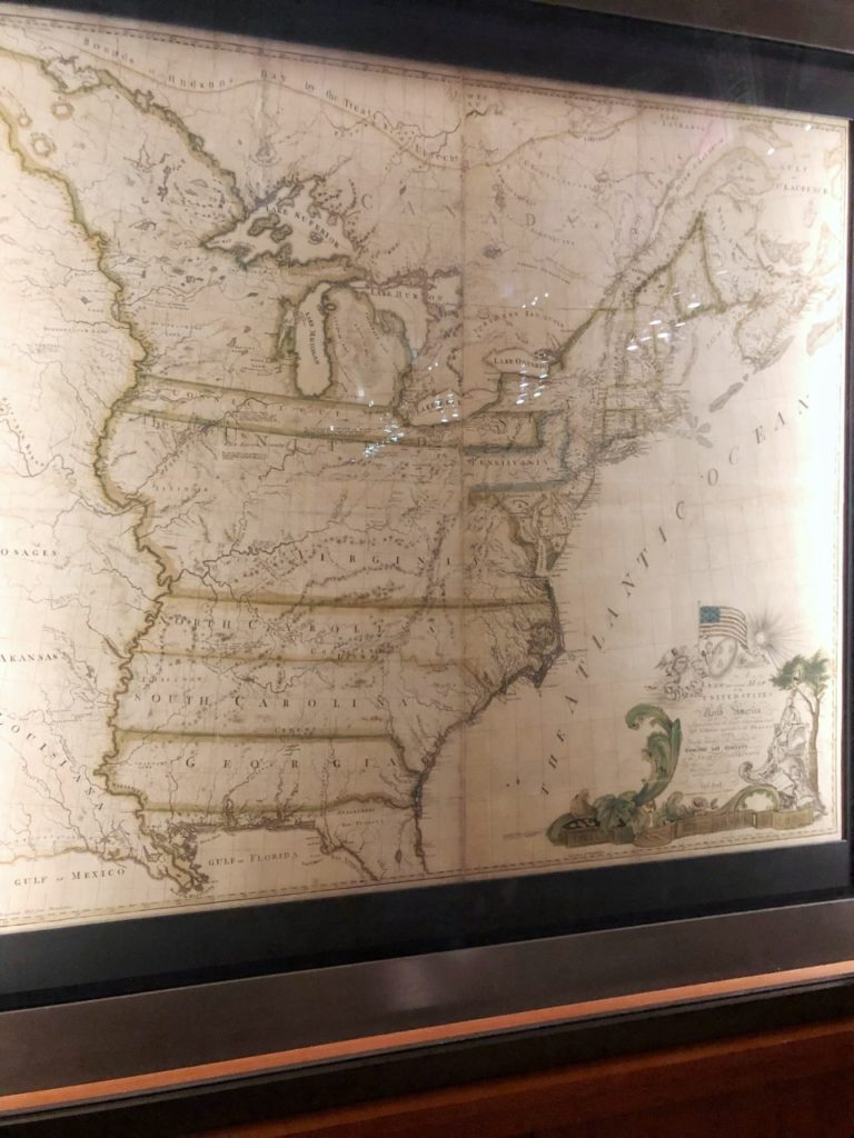 driving from texas to washington dc: Abel Buell's map of the United States (the first map to have our nation's name printed on it) at the Library of Congress