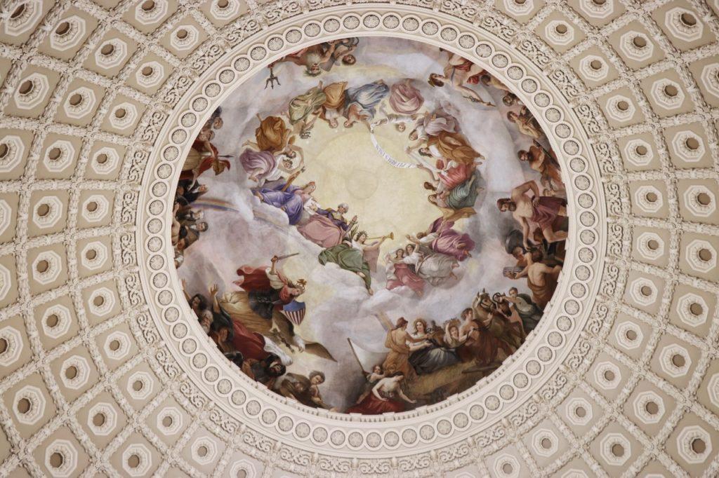 The inside of the Capitol rotunda