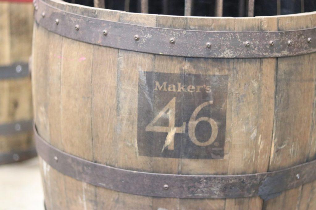 Maker's 46 whisky barrel at the maker's mark distillery tour in kentucky