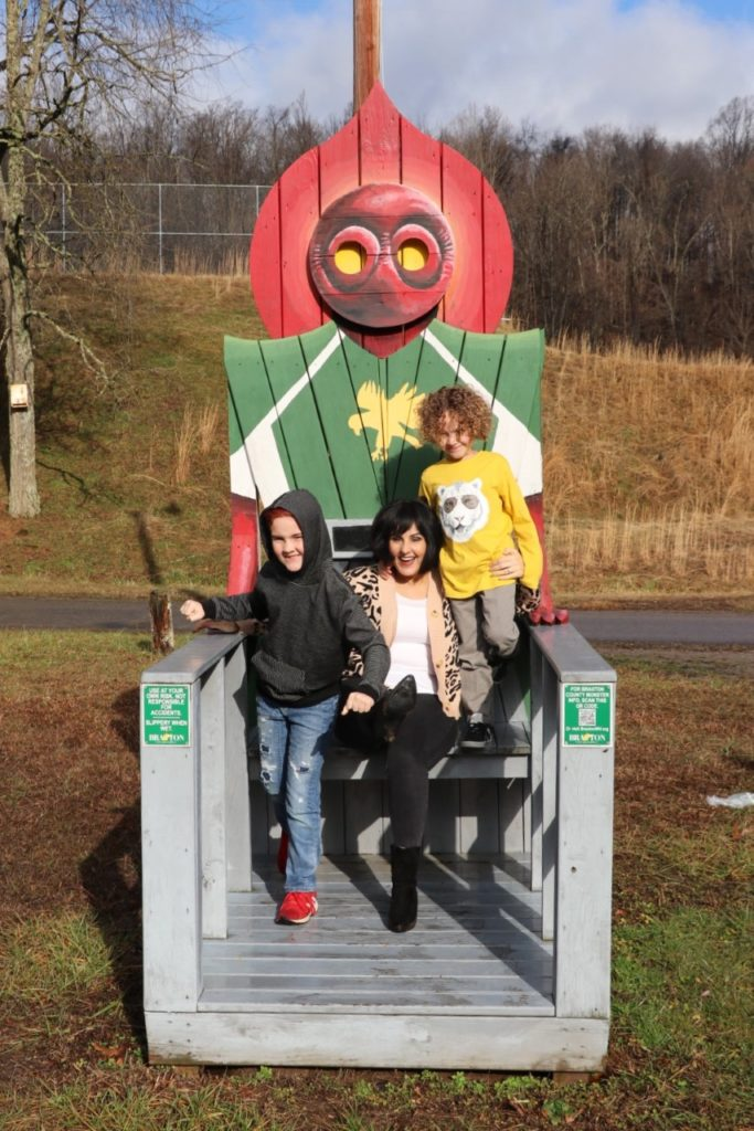 Flatwoods (or Braxton County) Monster in West Virginia - monster chairs roadside attraction