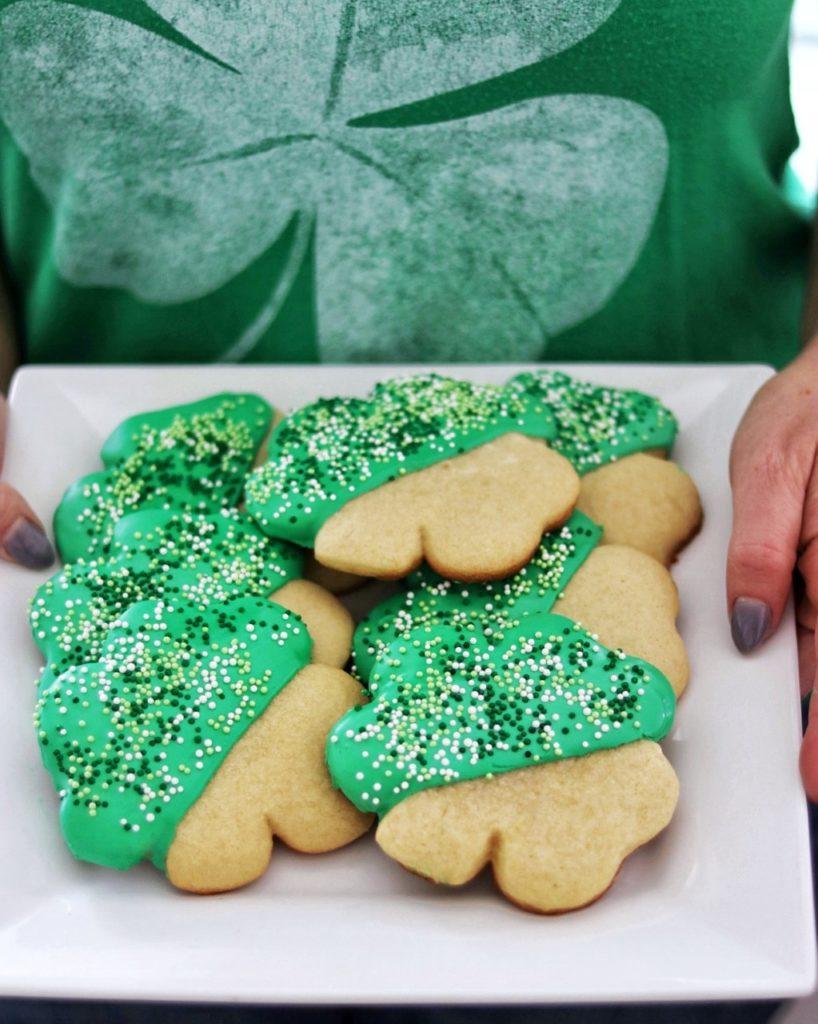 St. Patrick's Day cookies: Shamrock cookies