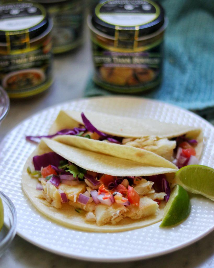 Garlic grilled fish tacos recipe