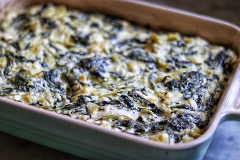 Keto Baked Spinach-Artichoke Chicken Breasts recipe