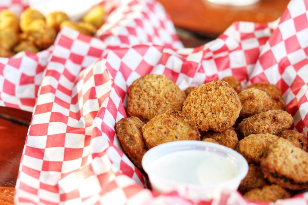 Fried pickles at Ski Shores in Austin, TX