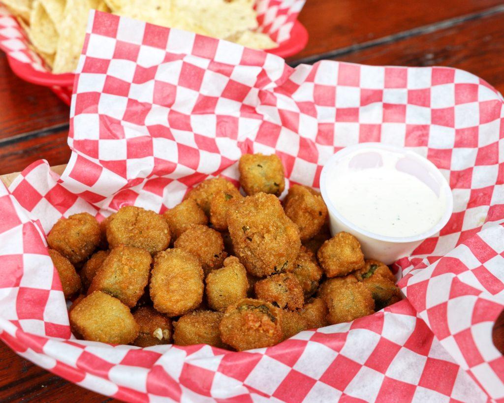 Fried okra appetizer at Ski Shores Cafe in Austin
