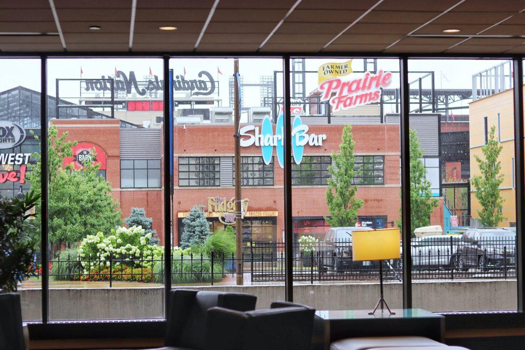 hotels near busch stadium: hilton st. louis at the ballpark is steps away from the cardinals stadium