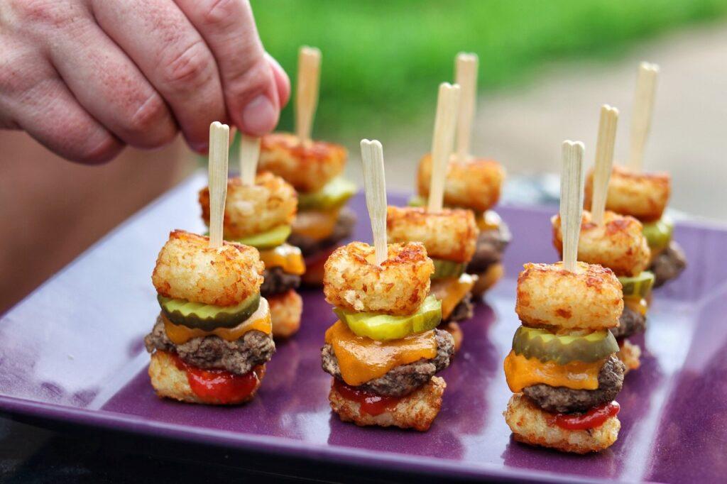 summer snack idea: Tater Tot Mini Cheeseburger Bites