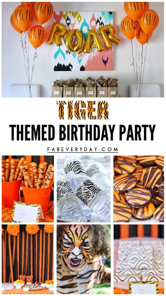 Tiger Themed Birthday Party Ideas