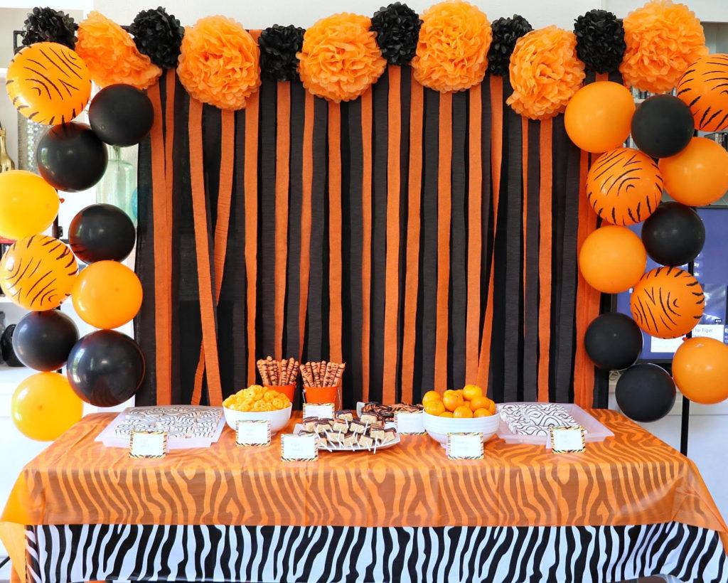 Tiger birthday party decor backdrop