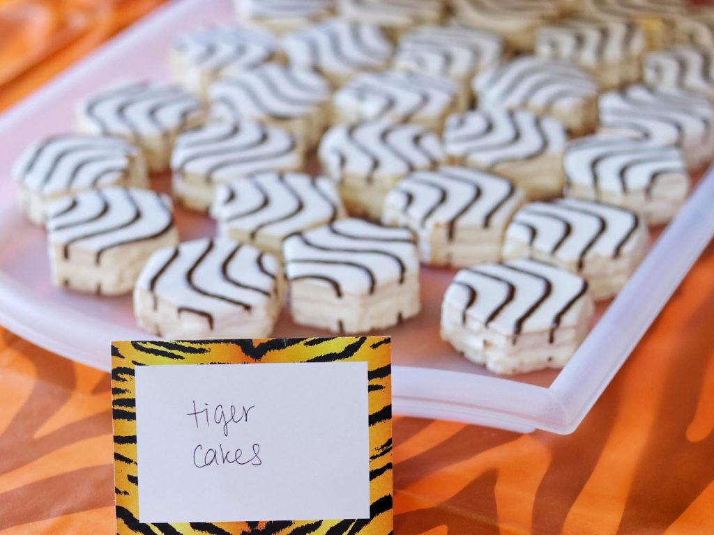 tiger party food ideas - Little Debbie Zebra Cakes