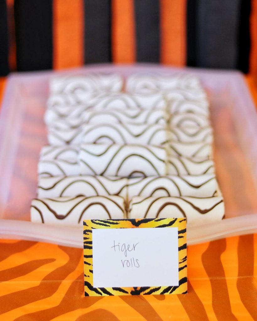 Little Debbie Zebra Swiss Cake Rolls - easy jungle party food idea