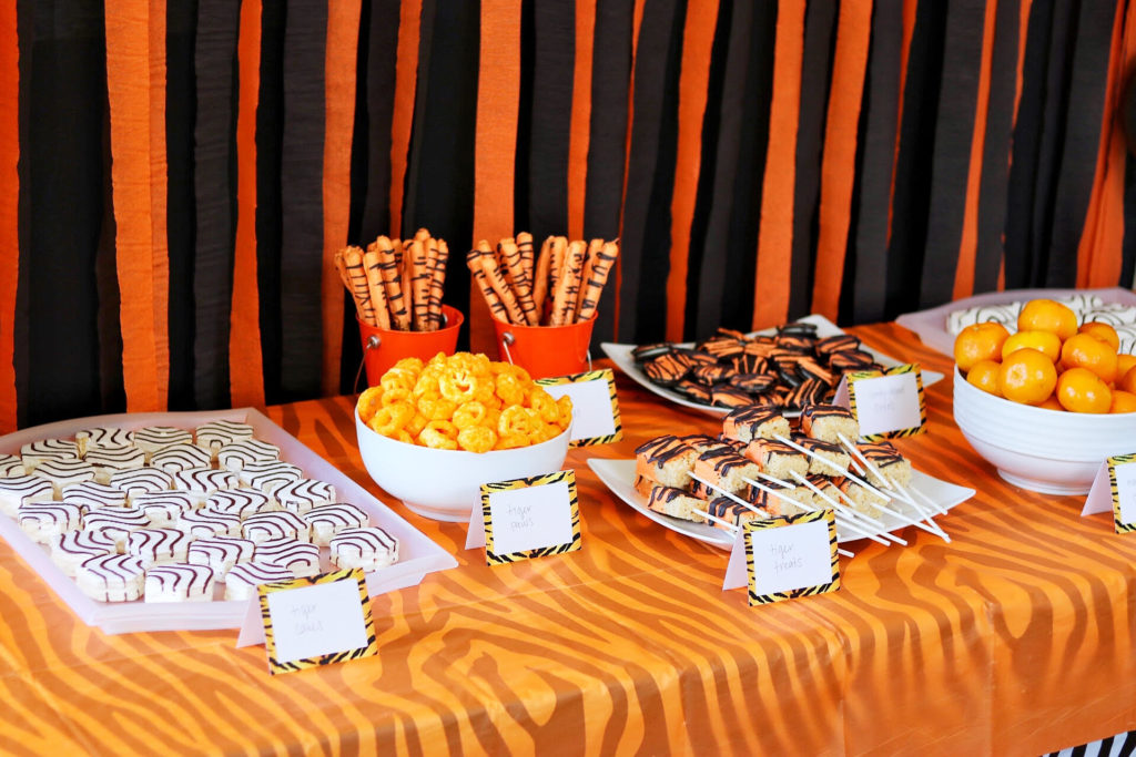 Food ideas for a tiger themed party