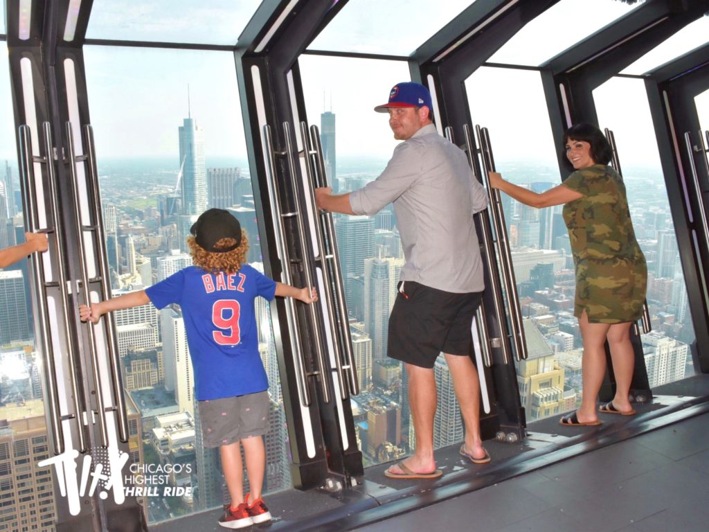 what to do in chicago with kids: tilt experience at 360 chicago observation deck at the john hancock building