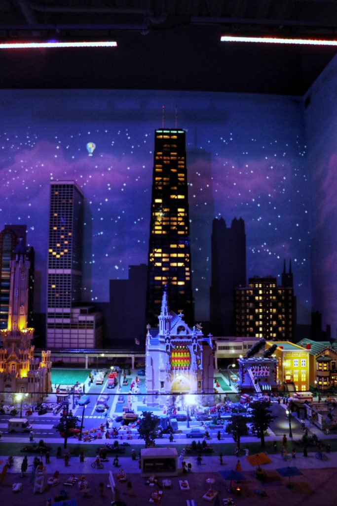 what to do in chicago with kids: The John Hancock Building in LEGO replica form at Legoland Discovery Center