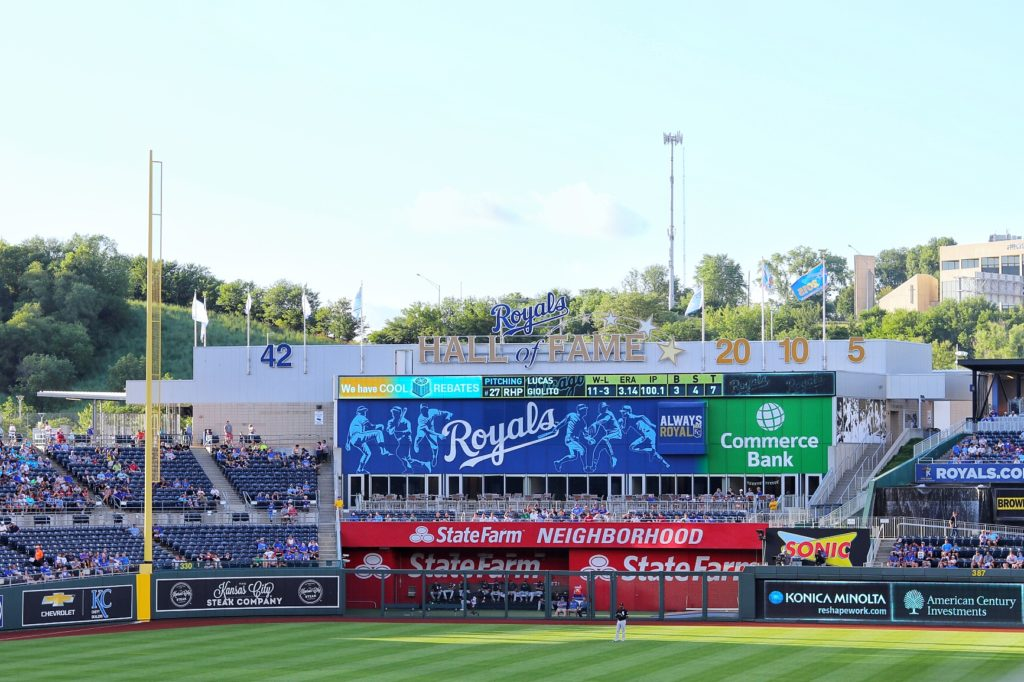The Royals Hall of Fame in left field