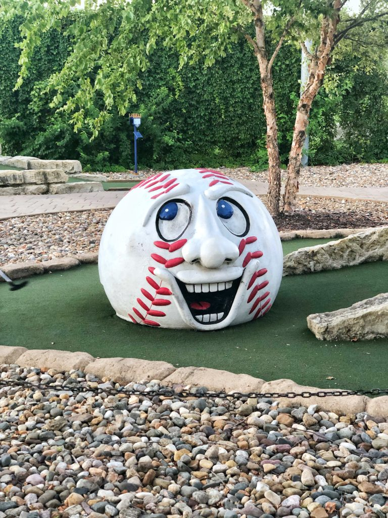 Mini golf at the Kansas City Royals' Outfield Experience