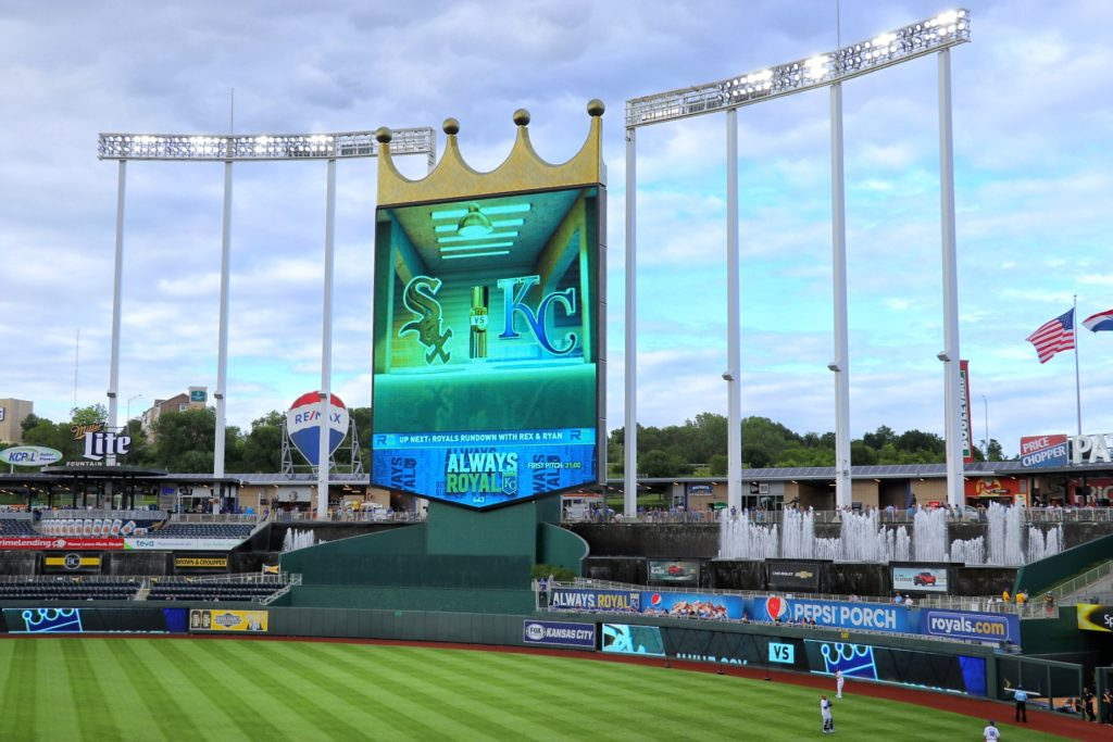 The view from our seats at Kauffman Stadium