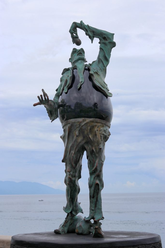 The Subtle Stone Eater statue at Malecón in Puerto Vallarta, Jalisco, Mexico