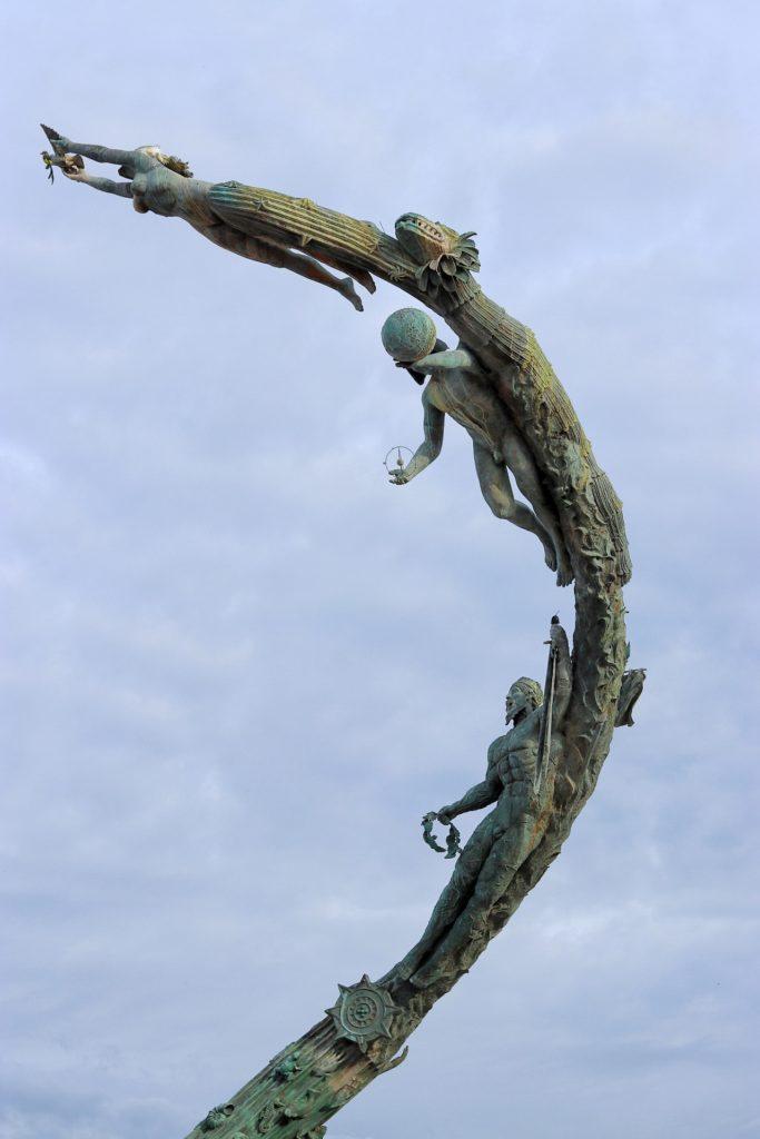 Millennium sculpture at the Puerto Vallarta