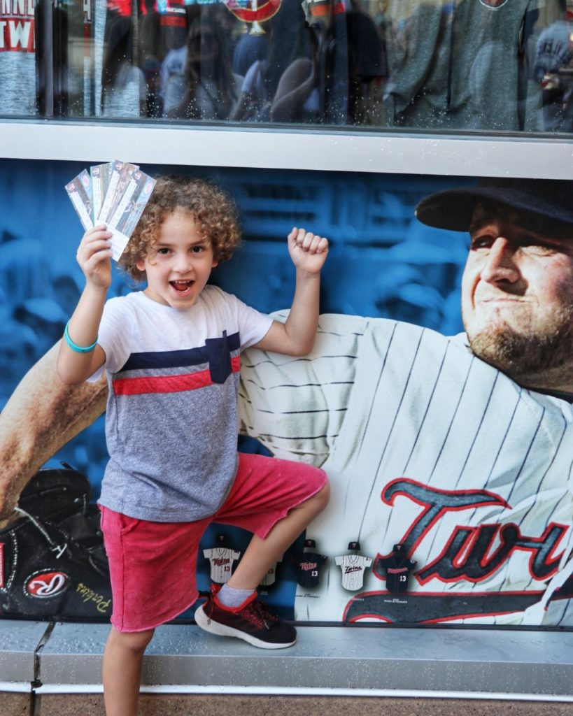 going to a minnesota twins game with family