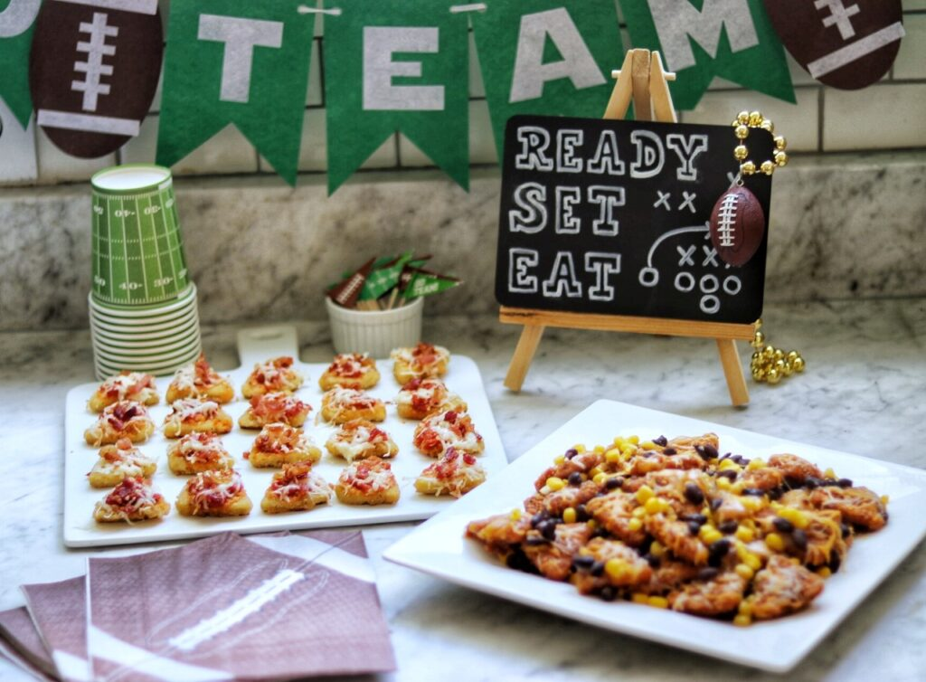 Easy 15-minute, four-ingredient, crowd-pleasing football tailgate party recipes