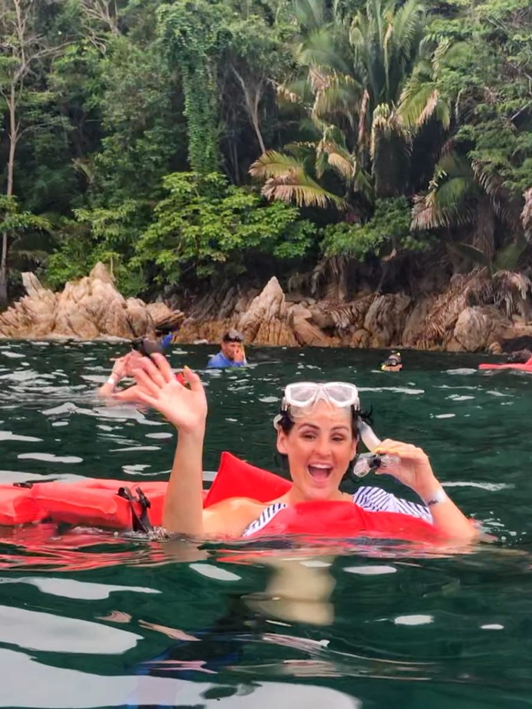 what to do in puerto vallarta for a girls trip: snorkeling in the bay of banderas