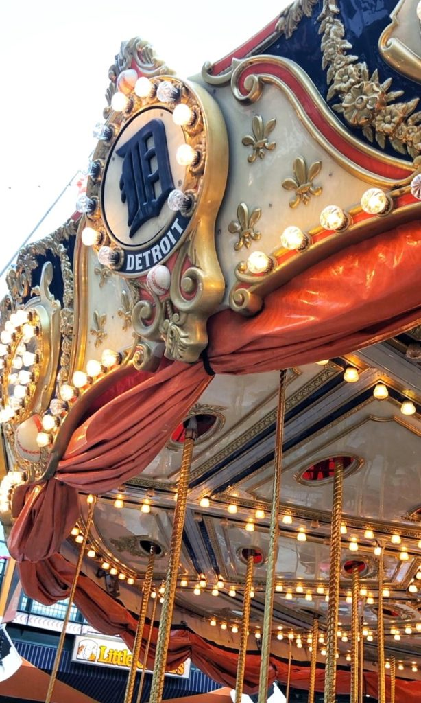 detroit tigers carousel at comerica park