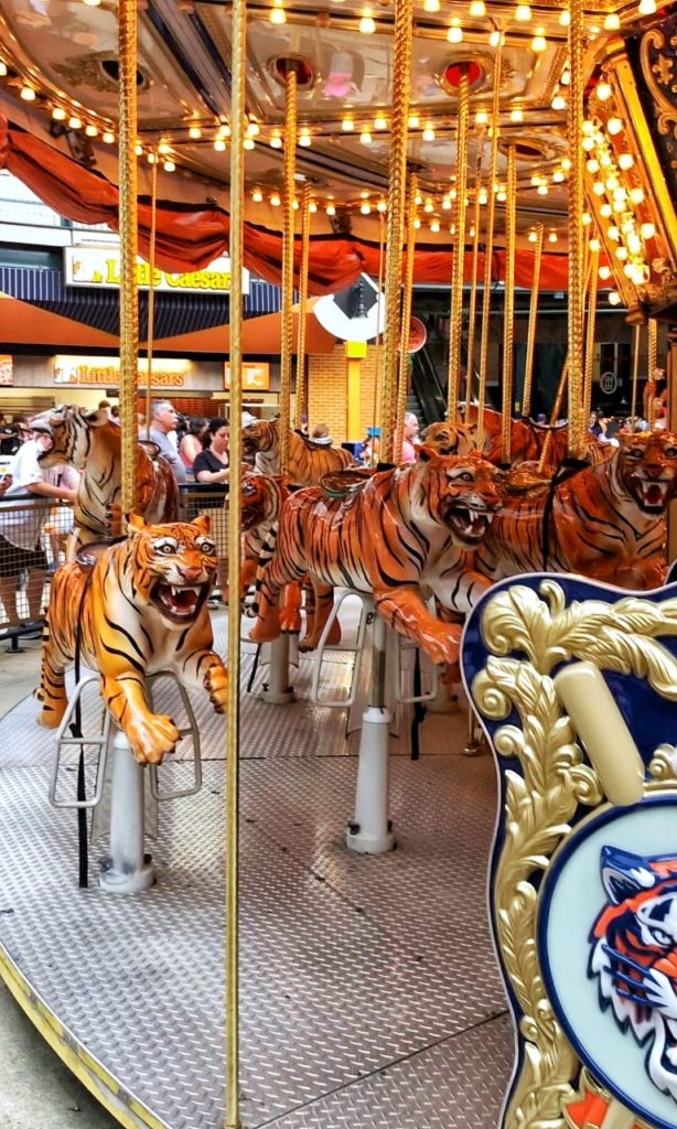 the all-tiger carousel at detroit's comerica park