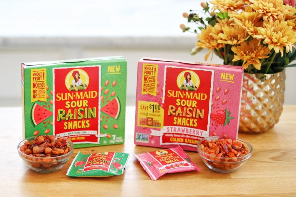Sun-Maid® Sour Raisin Snacks with a trail mix recipe