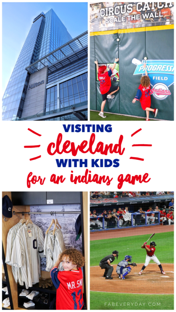Visiting Cleveland, Ohio with kids for an Indians game