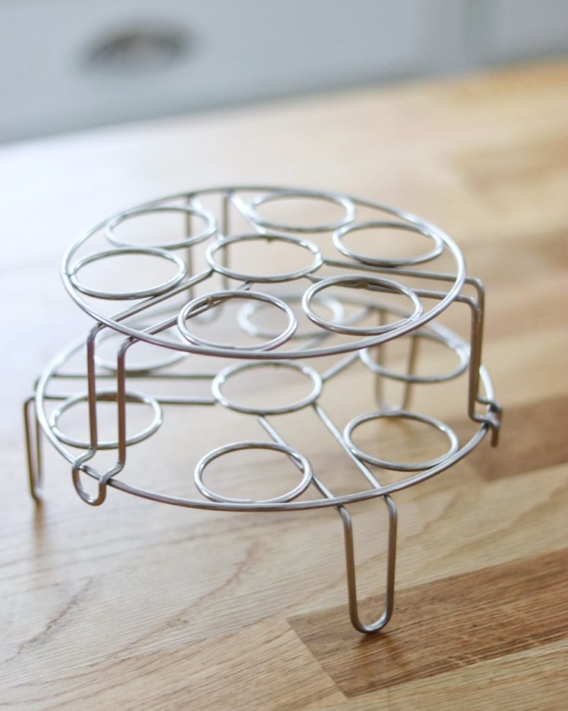 must-have Instant Pot accessory: stackable egg steamer rack