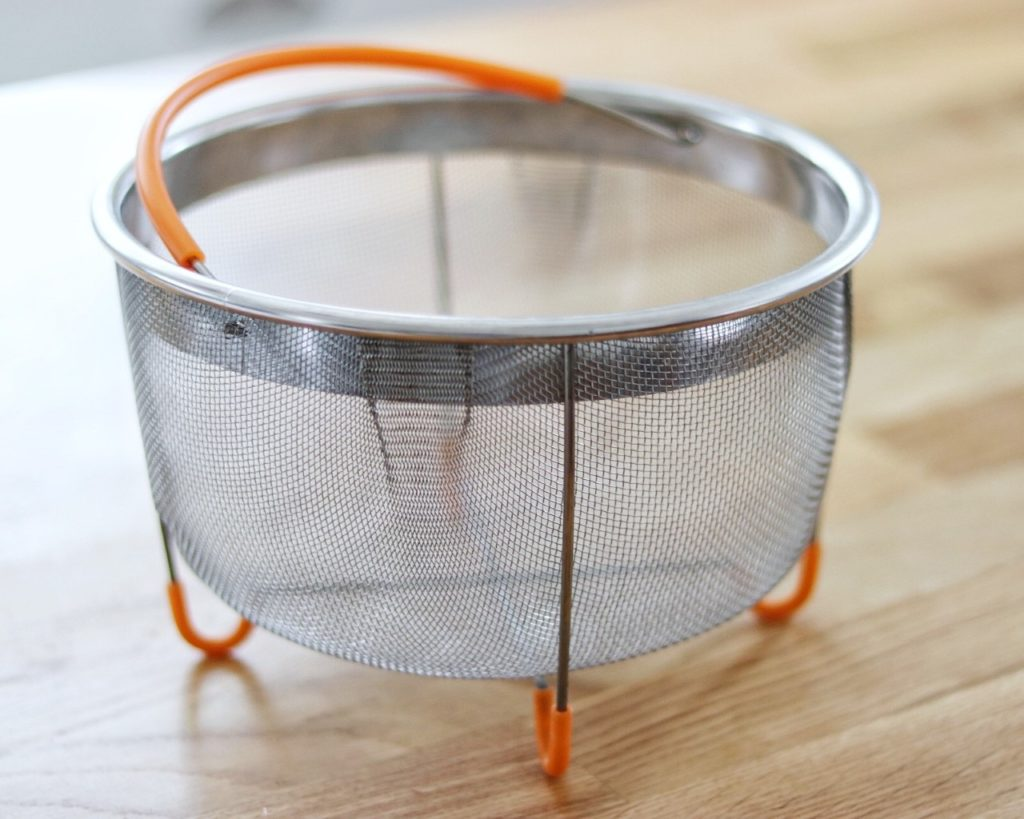 The best accessories for your Instant Pot: large steamer basket (perfect for shrimp boils)
